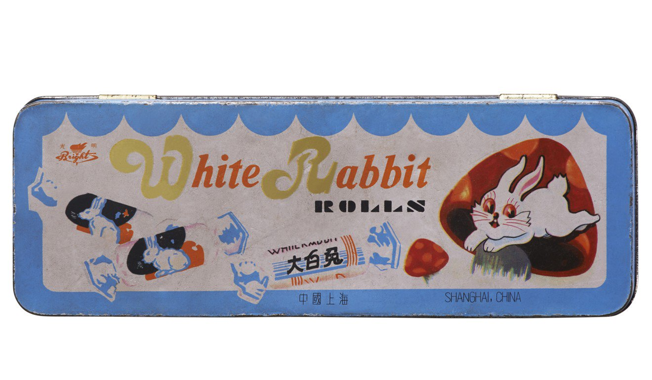 White Rabbit packaging in the 1960s.