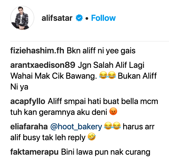 Image from Instagram @alifsatar