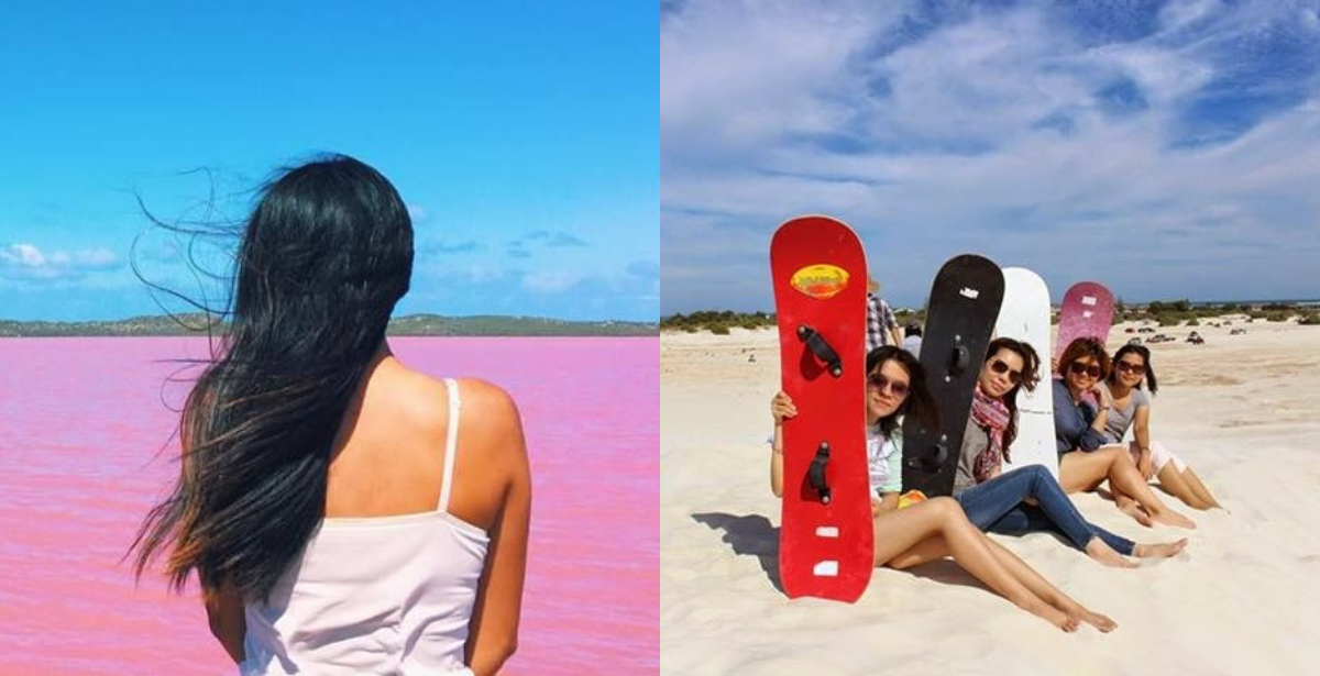 Discover more at Hutt Lagoon for its pink lakes and Lancelin for its sand dunes.
