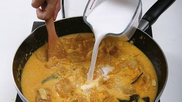 Campurkan tepung beras