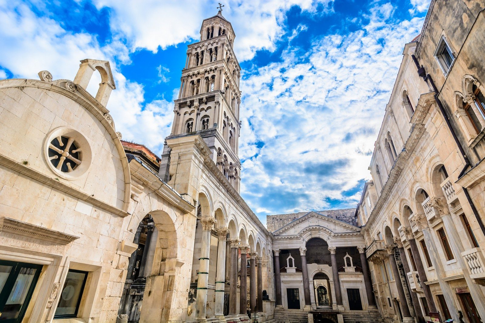 The courtyard of Diocletian's Palace, Split