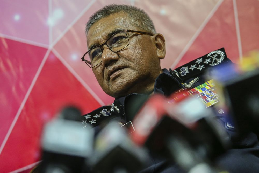 IGP Mohamad Fuzi Harun during a press conference in Bukit Aman.