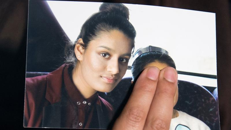 Shamima Begum, who ran away from the UK four years ago to live under the IS.