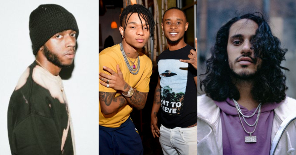 (From left) 6lack, Rae Sremmurd, and Russ.