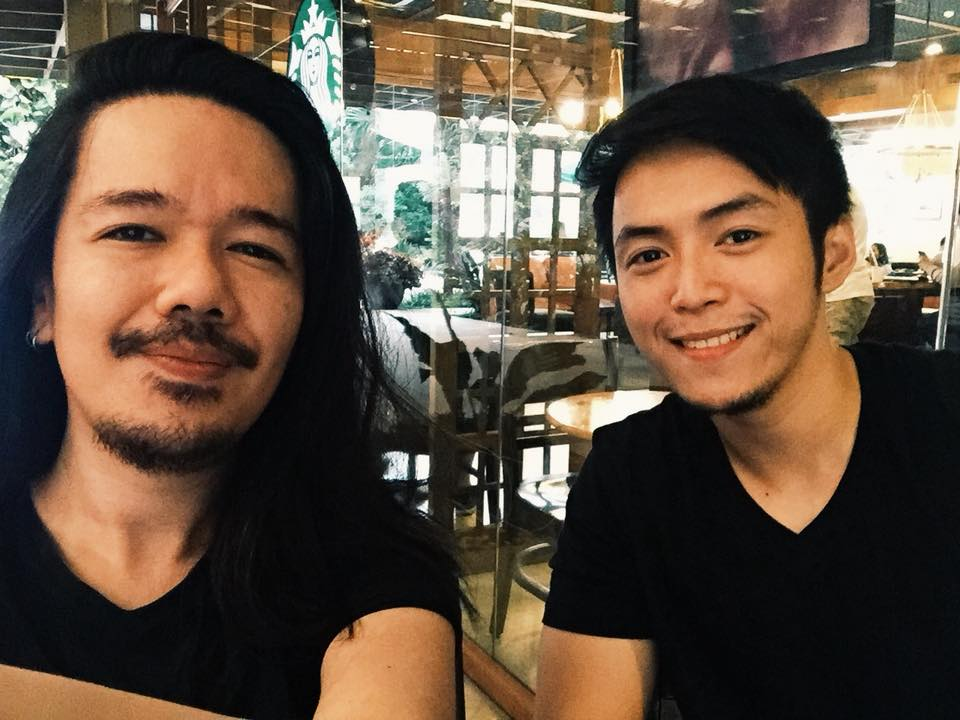 Nazri Noor (left) and Filipino digital artist and graphic designer Christian Bentulan.