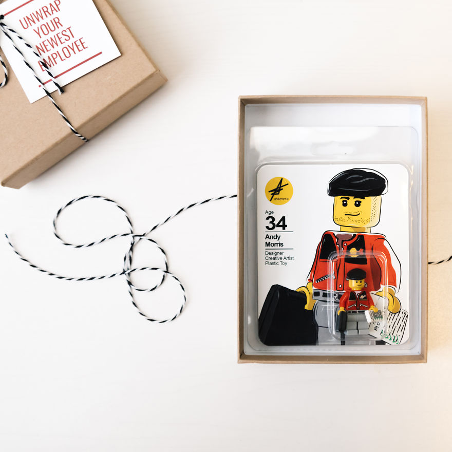 This person created a Lego CV instead of a regular resume or portfolio.