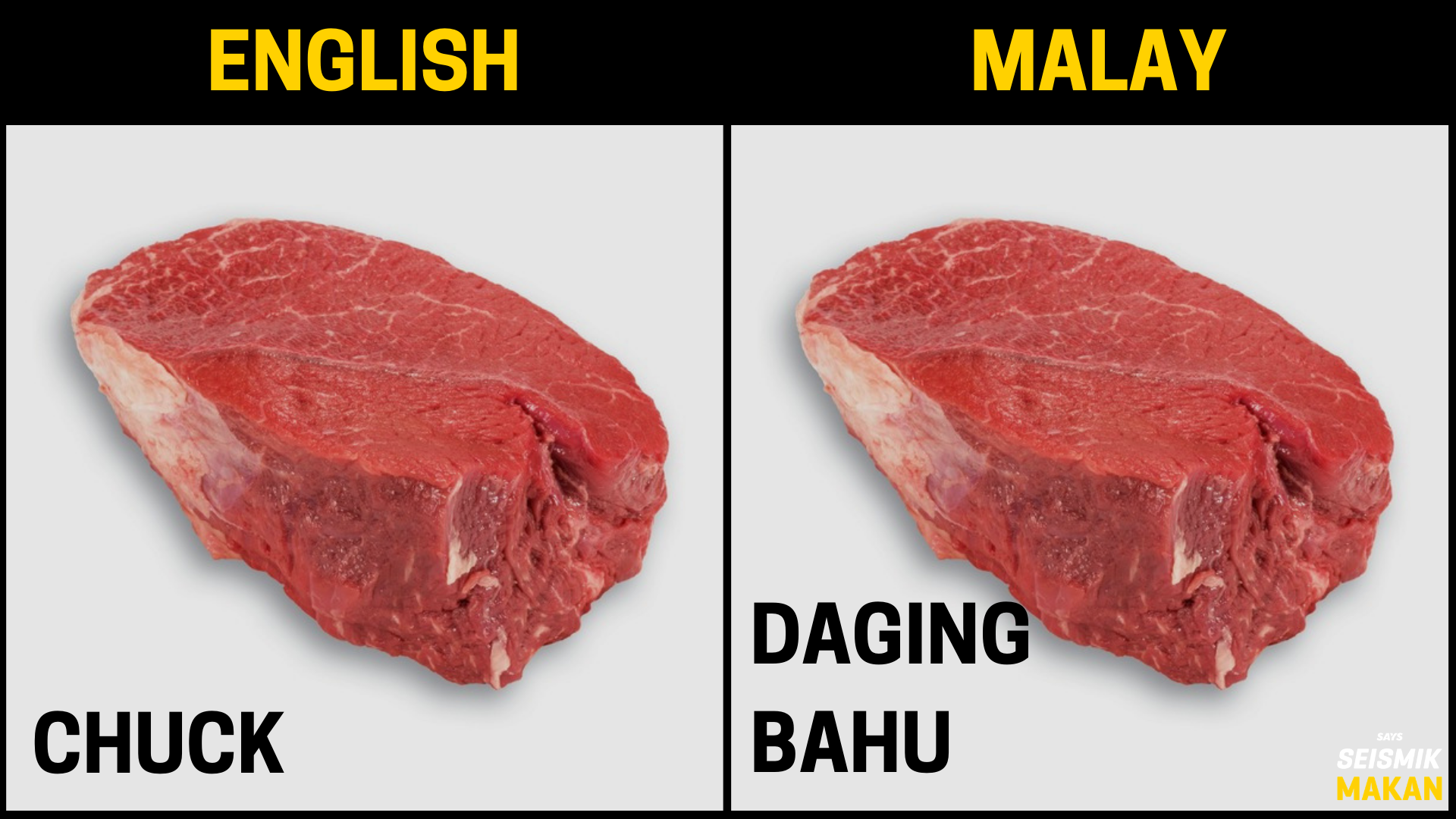 Daging Chuck Bahasa Melayu