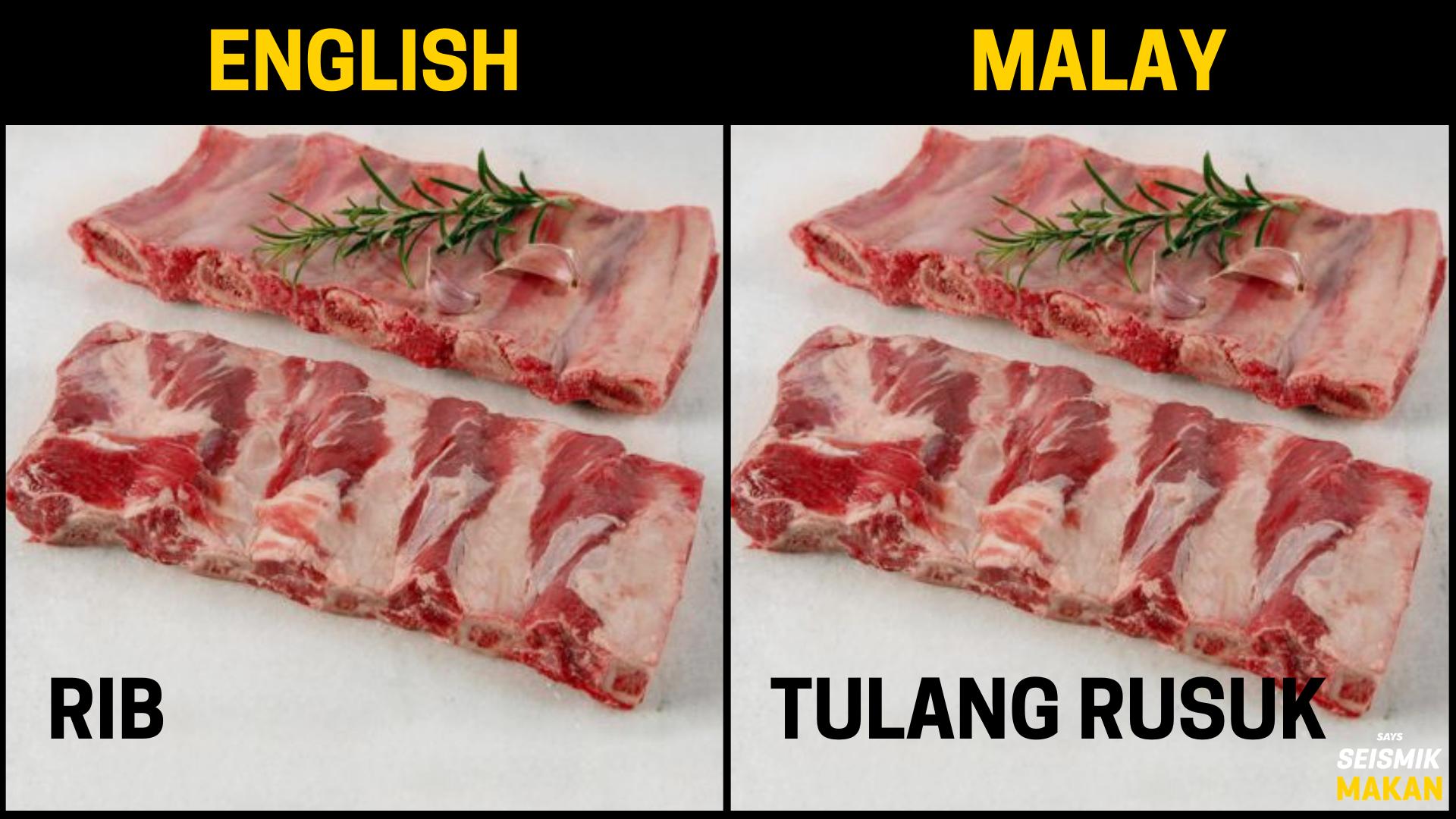 Daging Rib Bahasa Melayu