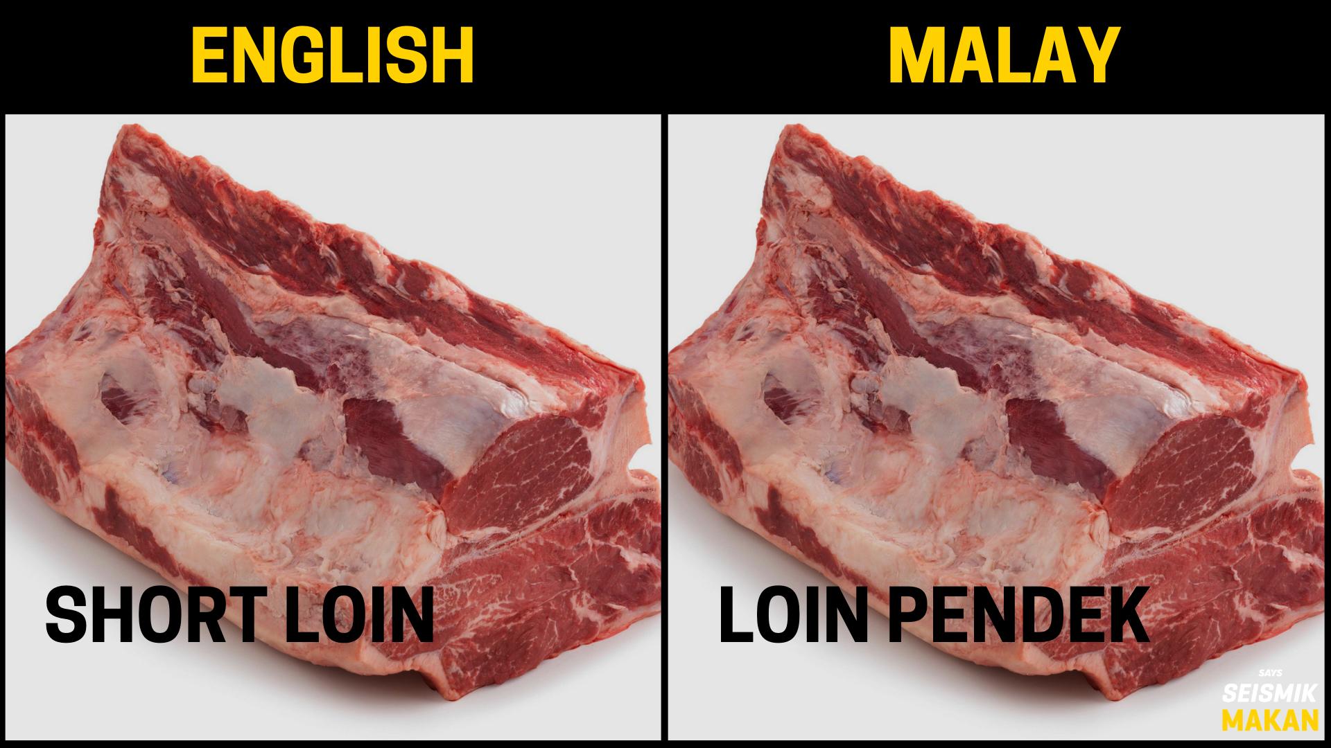 Daging Short Loin Bahasa Melayu
