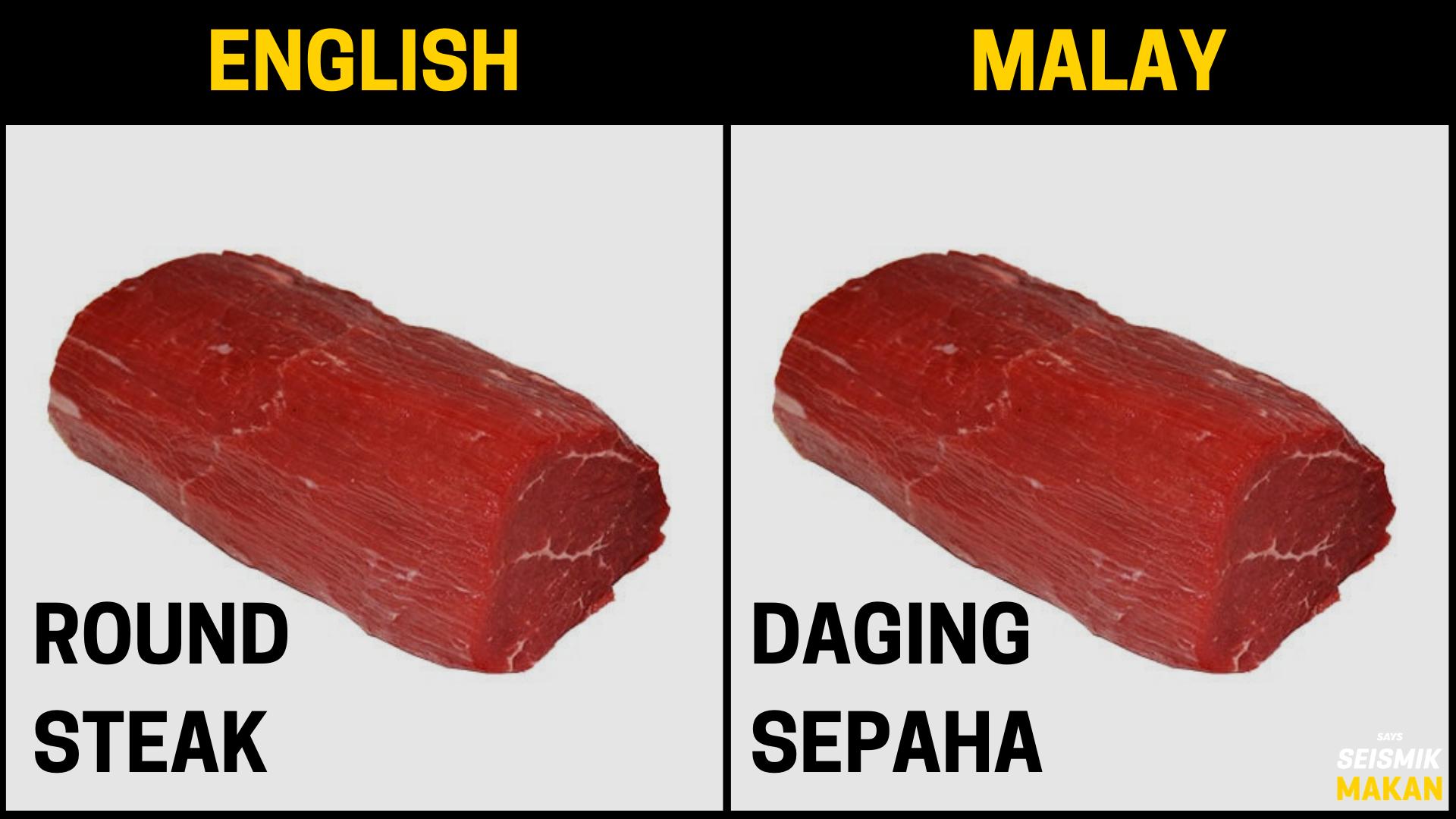 Daging Round Bahasa Melayu