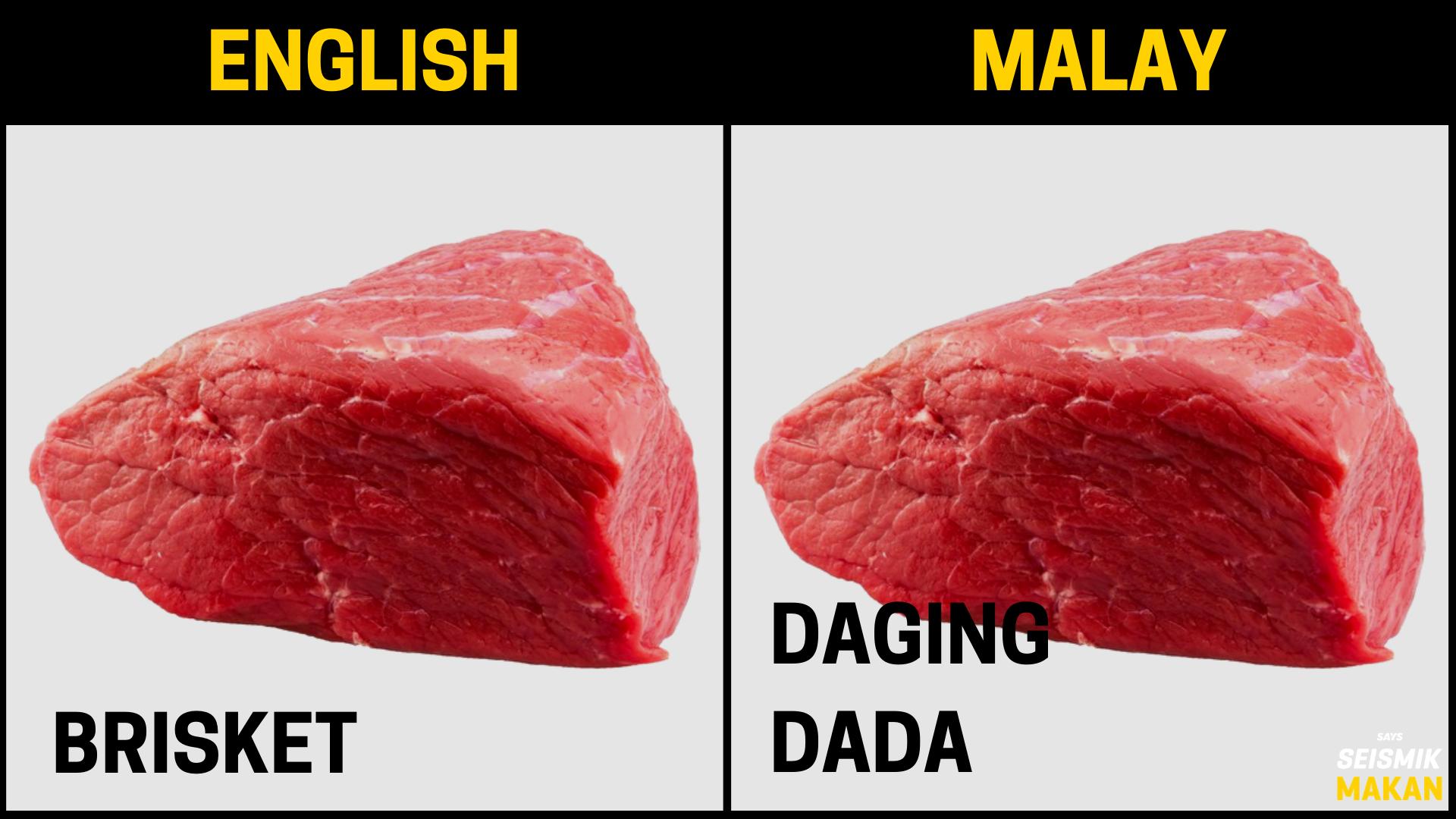Daging Brisket Bahasa Melayu