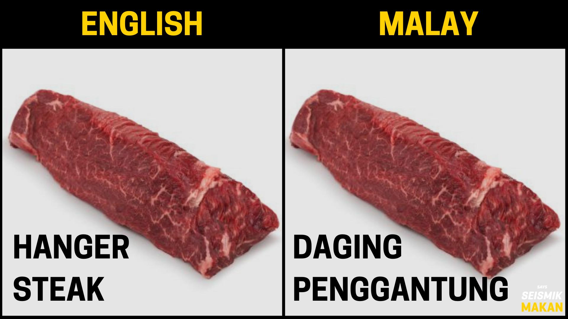 Daging Hanger Bahasa Melayu