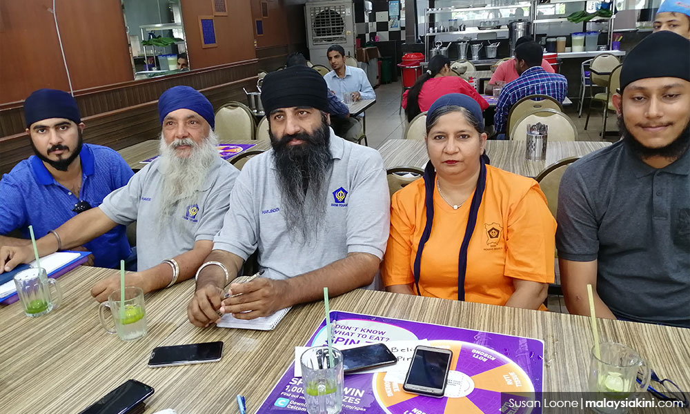 Members of the Sikh community who want to exhume Surinder's body.