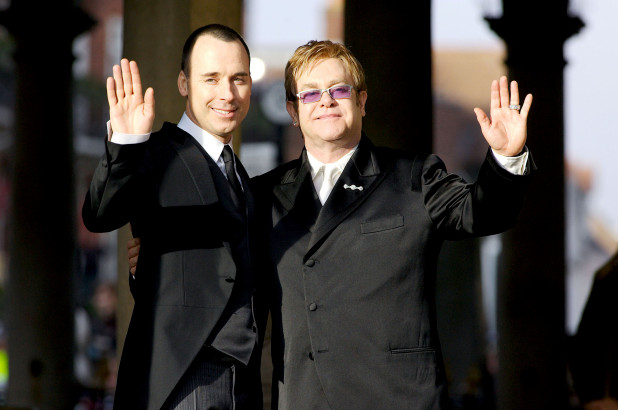 Elton John (right) with husband David Furnish (left).