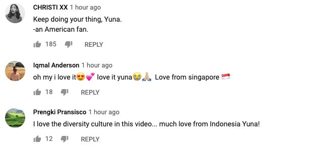 Image from Yuna YouTube