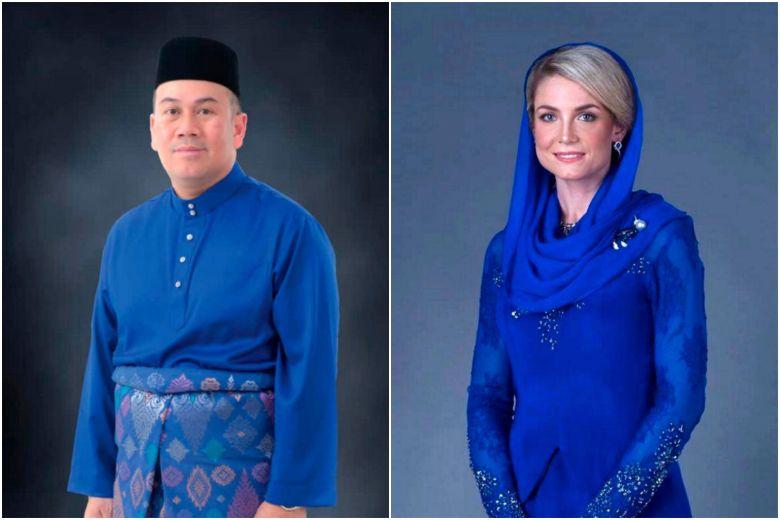 Kelantan Crown Prince Tengku Muhammad Faiz Petra and Swedish national Sofie Louise Johansson.