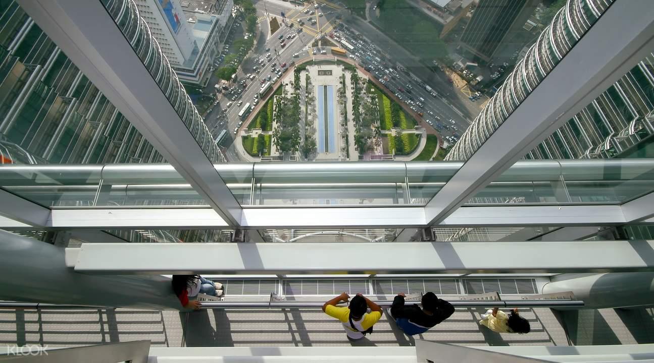 The SkyBridge of Petronas Twin Towers.