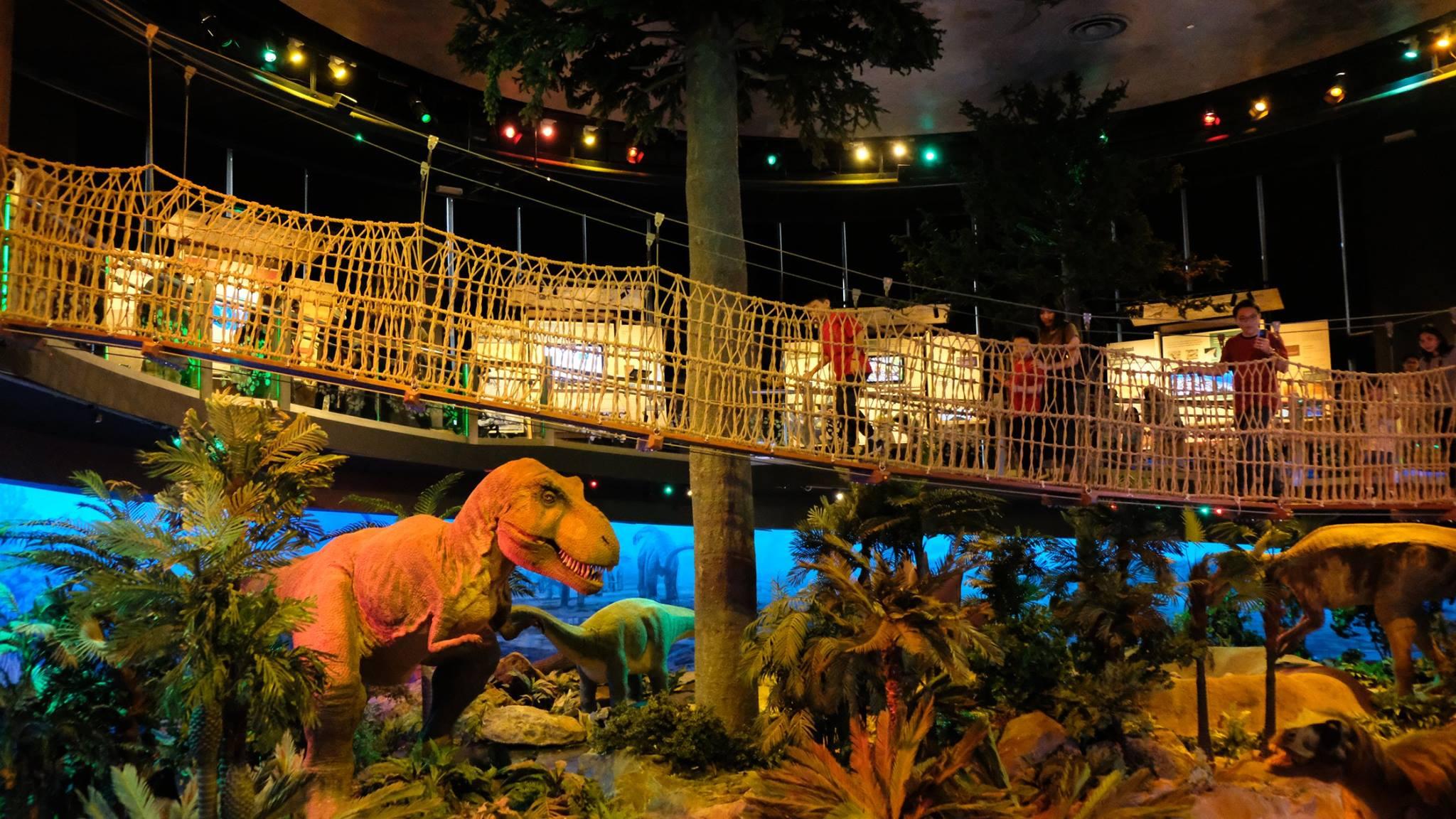 Dinosaur exhibit at Petrosains.
