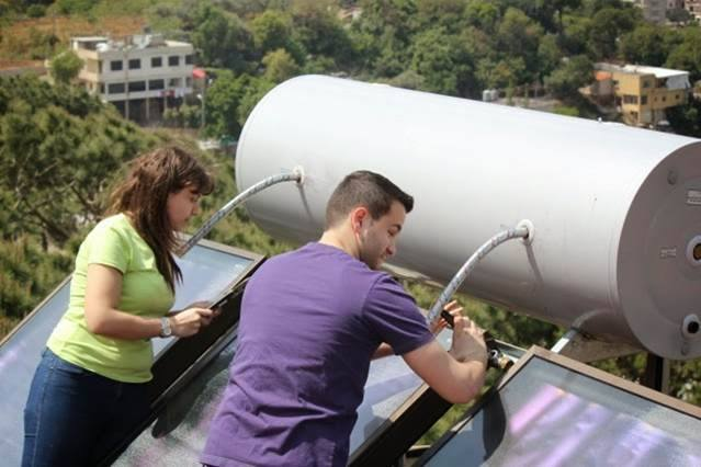 Engineers Without Borders provide solar energy for hot water and install LED Lamps for more than 120 orphans in Lebanon.
