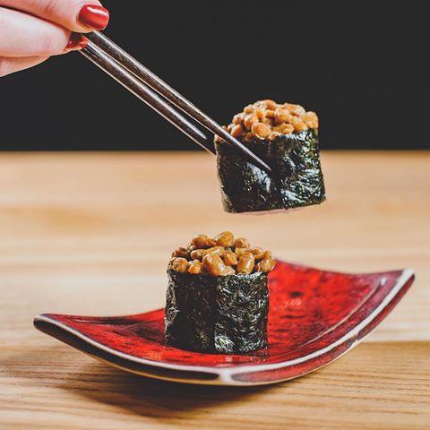 Natto sushi probiotics