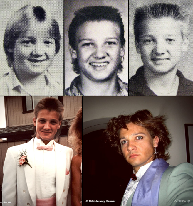 Jeremy Renner yearbook prom