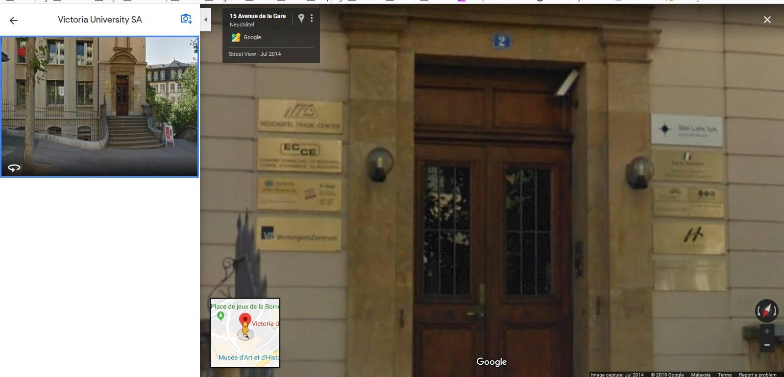 Inilah VU School of Management kalau ikut google. Cuma ada signboard kecik direktori je. Tak kelihatan lambang VU School of Managent pun. Cuma adalah satu lambang yang kelihatan seakan-akan sama tapi bukan bila diperhati betul-betul.