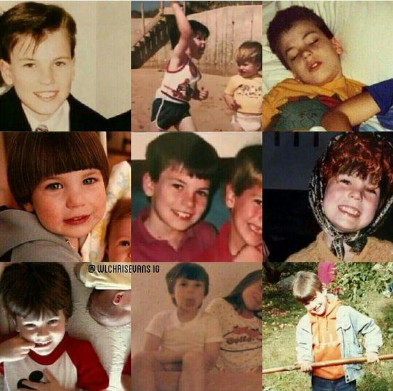 Chris Evans childhood