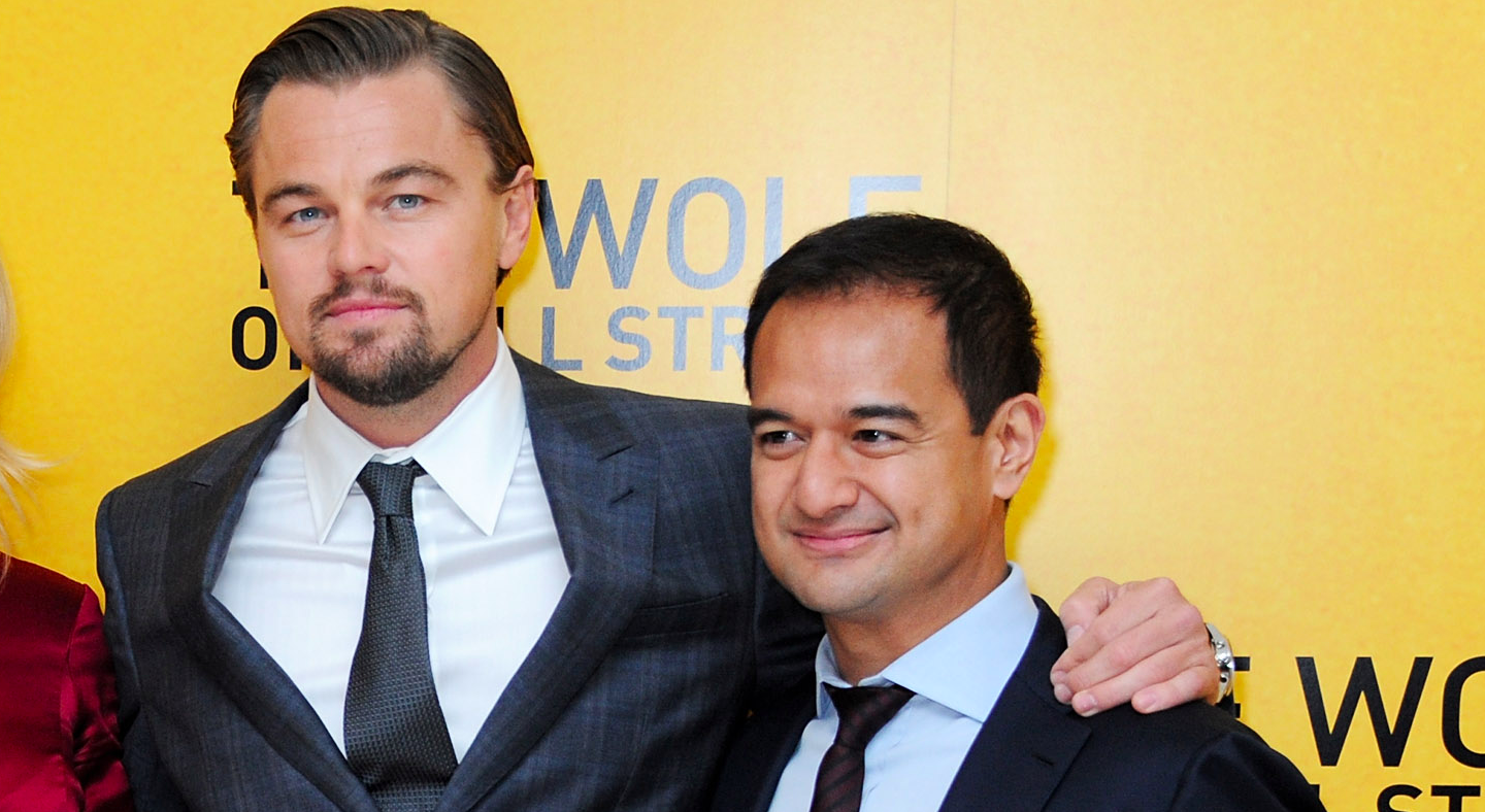 "Leonardo DiCaprio with Riza Aziz at the U.K. Premiere of ""The Wolf Of Wall Street""."