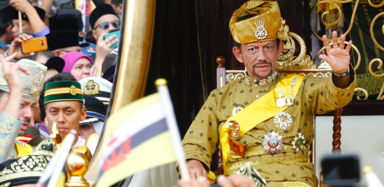 Sultan Hassanal Bolkiah of Brunei.