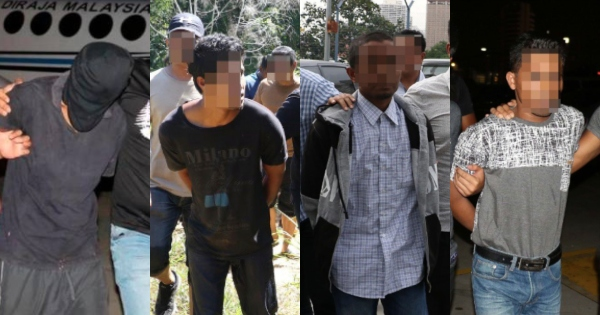 The suspects were arrested between 5 and 7 May.