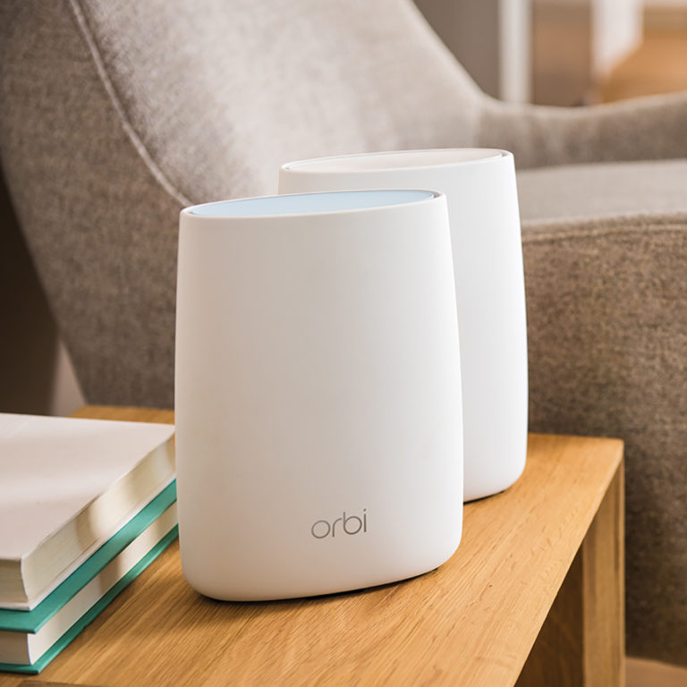 ViewQwest uses the Netgear Orbi RBK20 for its home WiFi Mesh system.