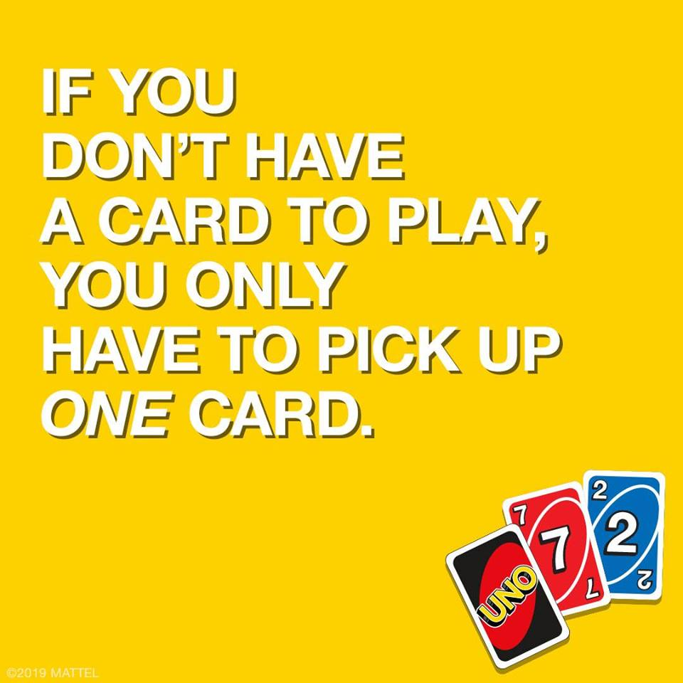Pick Up One Card If You Don T