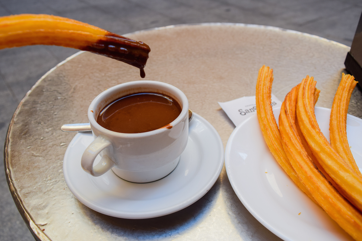 Churros in San Gines, Madrid