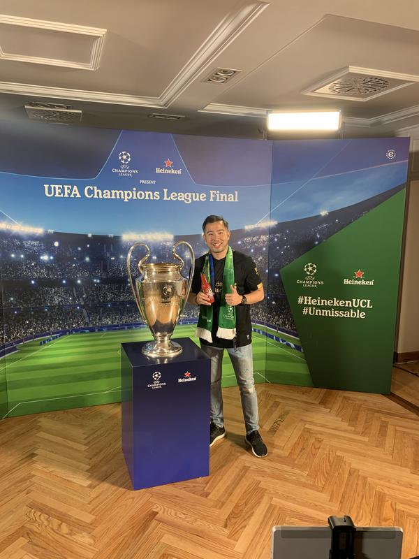 UEFA Champions League trophy in Madrid