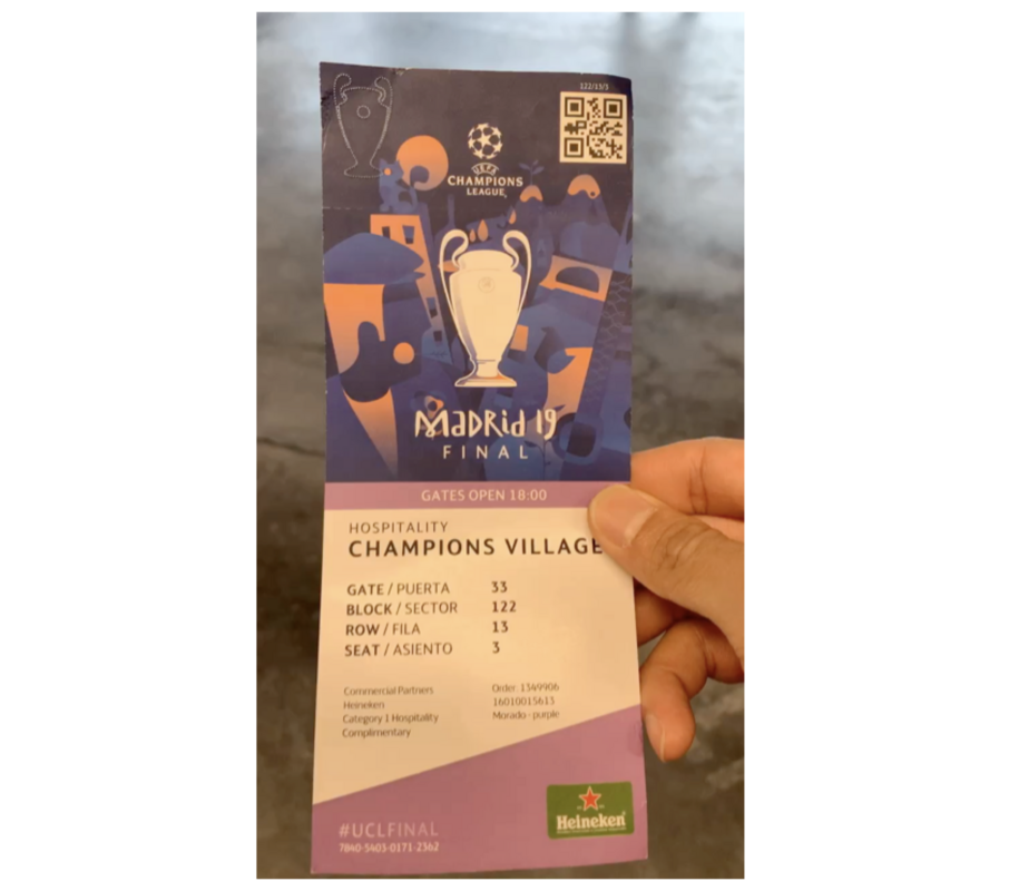 Ticket to the UEFA Champions League Finals