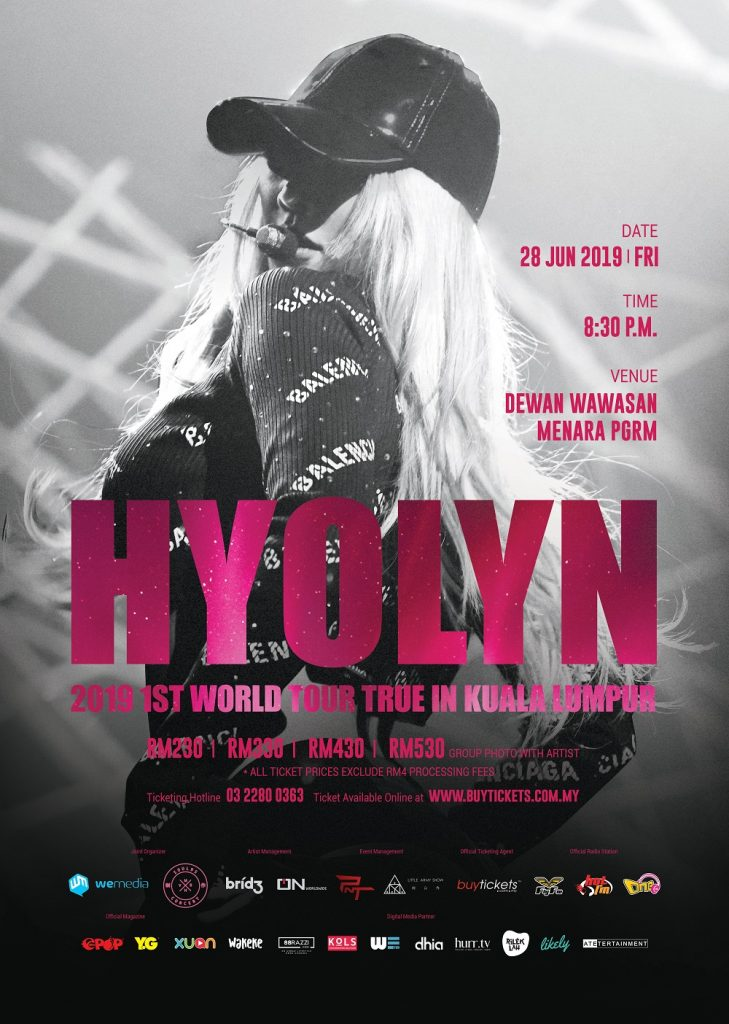 hyolyn true the first world tour in kuala lumpur