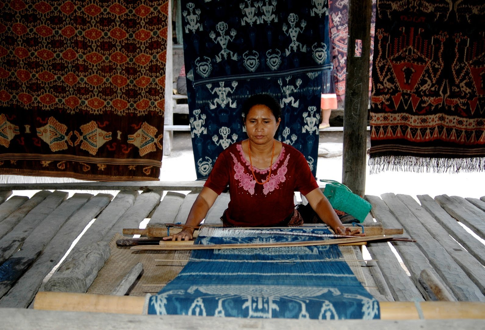 Ikat is a dyeing technique used to pattern fabric.