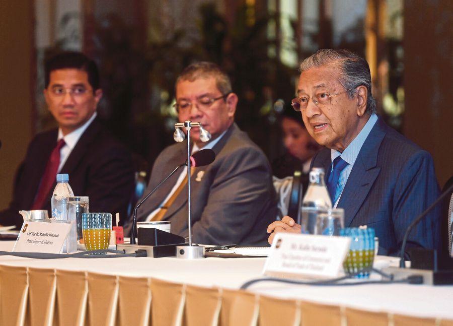Prime Minister Tun Dr Mahathir at the Bloomberg ASEAN Summit in Bangkok yesterday, 21 June