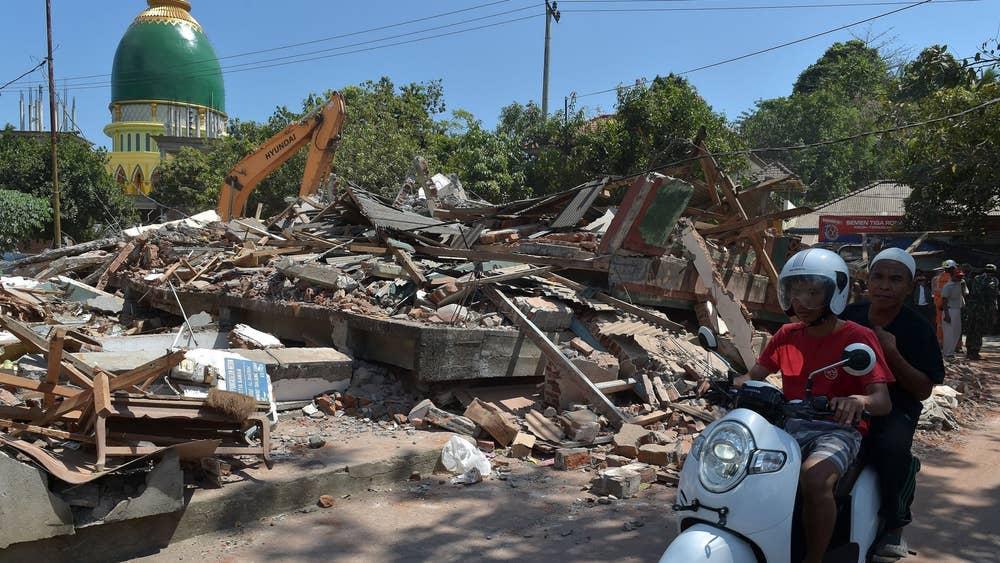 Keadaan Lombok selepas bencana alam.