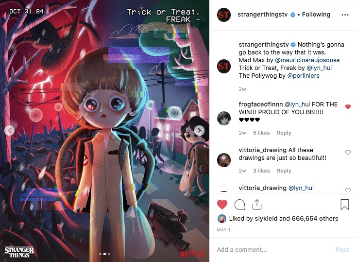 Image from Instagram @strangerthingstv