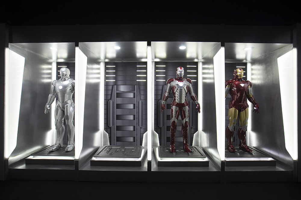 Take a stand among the Marks II, V, and VI suits in the Hall of Armor.