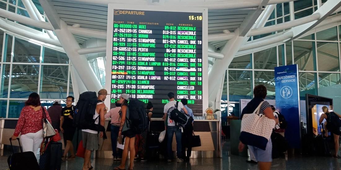 File photo of backpackers at I Gusti Ngurah Rai International Airport in Denpasar, Bali.