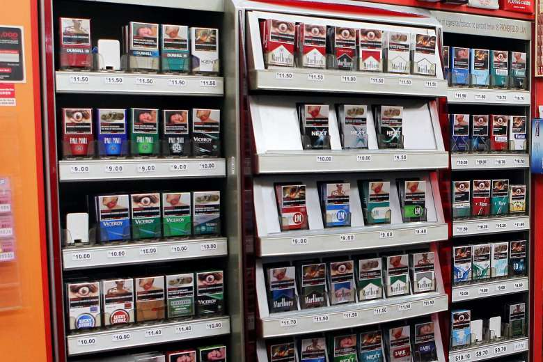 The price of cigarettes in Singapore around 2016.