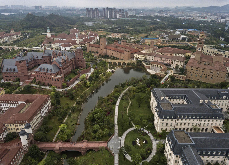 Pemandangan kampus Huawei dari atas.
