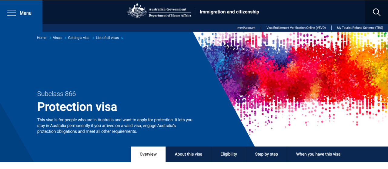 Image from Australian Government Department of Home Affairs