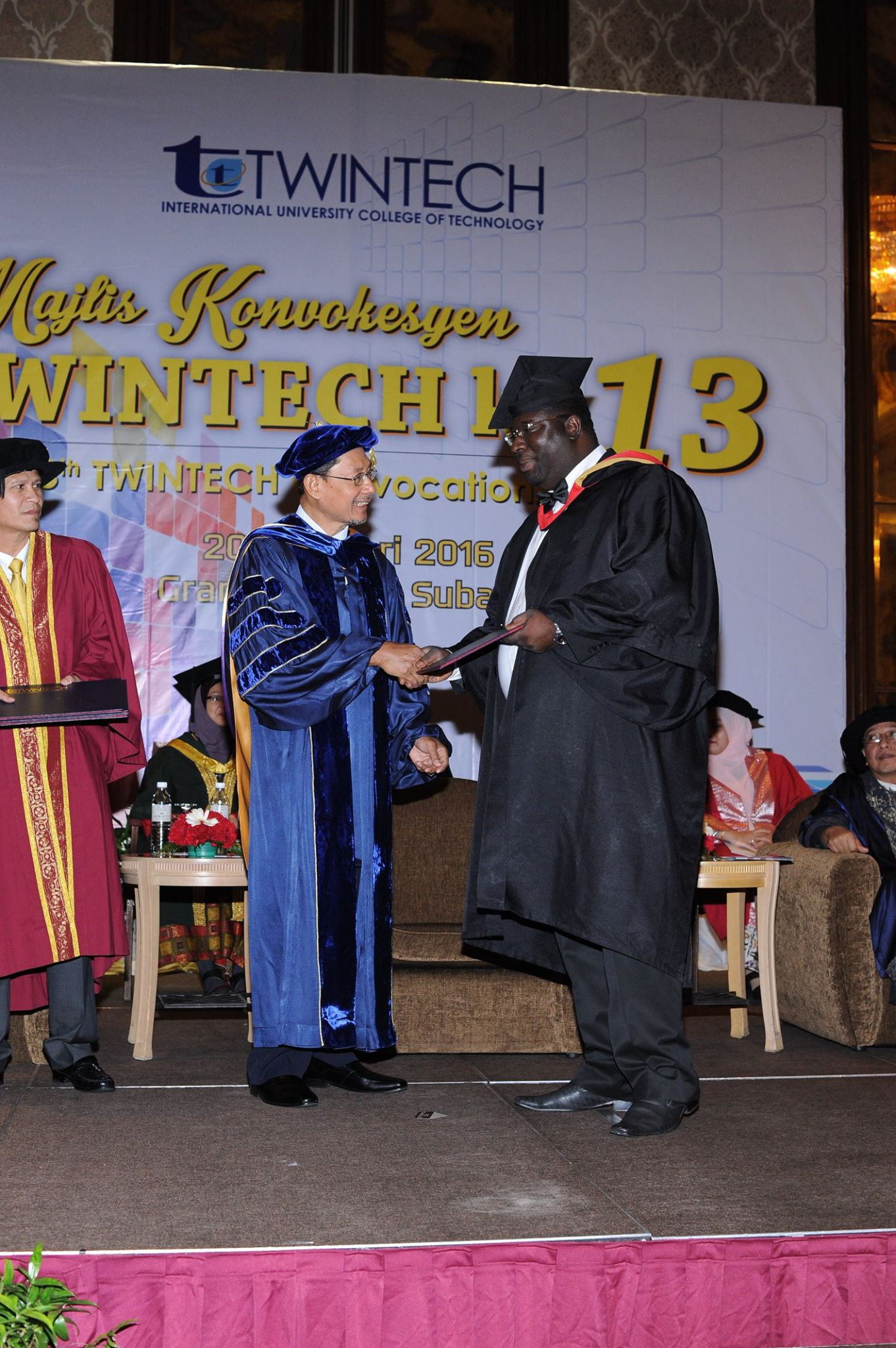 Thomas at his graduation ceremony in Subang in 2016.