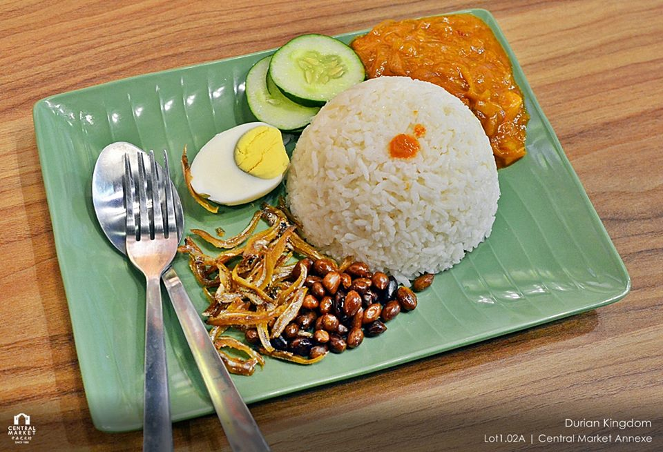 Image result for durian nasi lemak