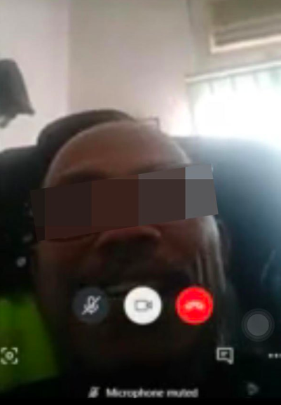 Screenshot of the Skype call.