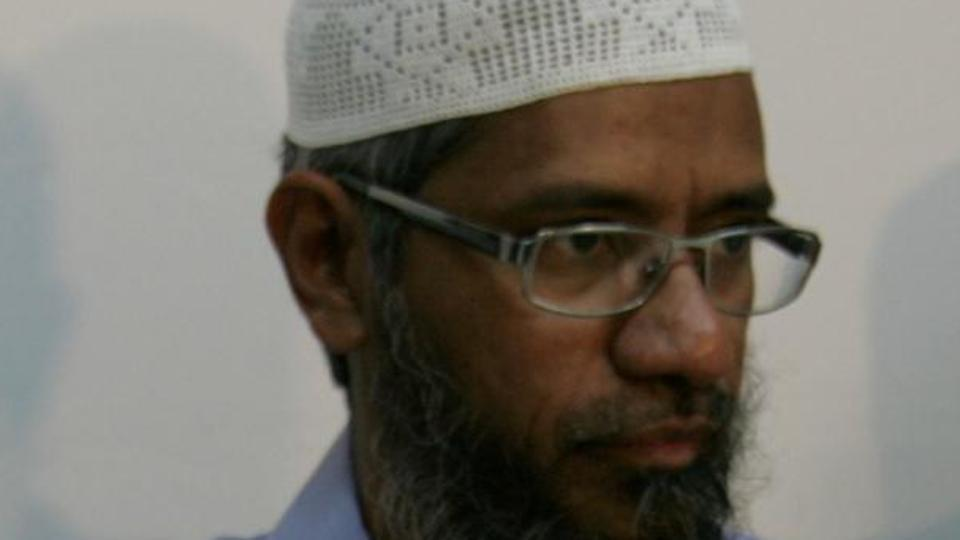 A file pic of Zakir Naik. The preacher has continually denied charges by the Indian Government against him.