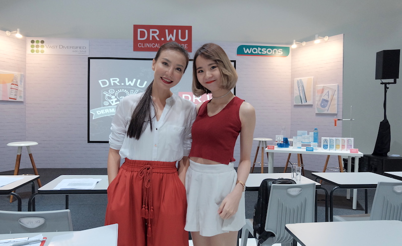 Travel and beauty blogger, Chan Won, on the left.